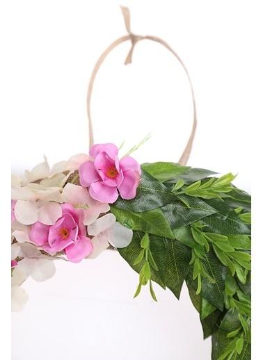 Kibrithane Çiçek Kapı Süsü Yapay Çiçek Gül Aranjman Kc00200827 Renkli